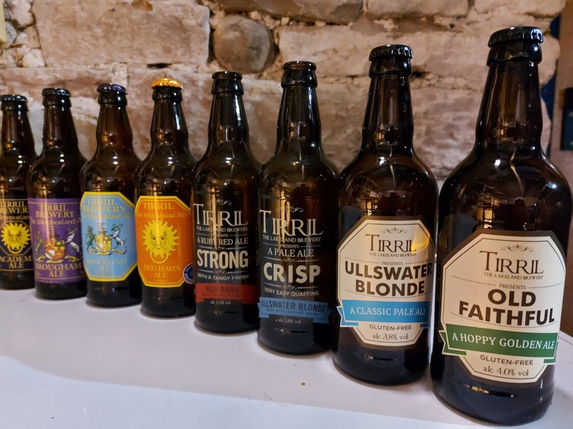 Tirril Brewery Bottles old to new