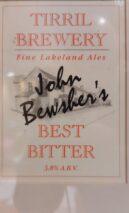 Tirril Brewery John Bewsher's Best Bitter first pump clip