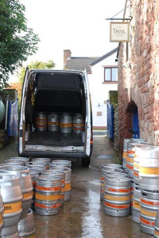beer barrels at Tirrel Brewery